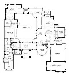 courtyard house plan home plans homepw12595 6 626 square 5 bedroom 5