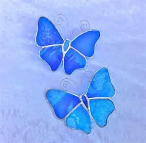 Wedding Gift Kits Stained Glass Butterfly Suncatcher Blue Folksy