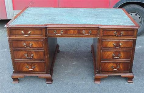 mahogany effect computer desk antiques atlas mahogany partners desk with marble effect top