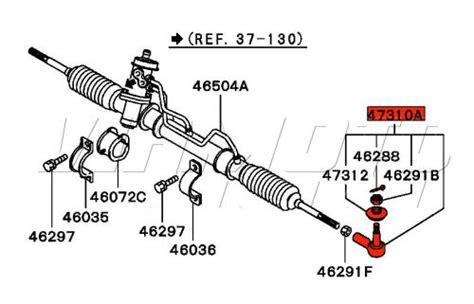 Rackend Rack End Tierod Outlander viamoto mitsubishi car parts track rod end steering rack tie rod end mitsubishi fto fto
