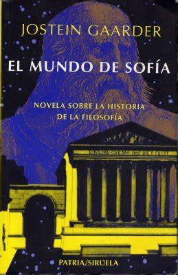 libro el mundo de sofa resumen de el mundo de sof 237 a res 250 menes de libros