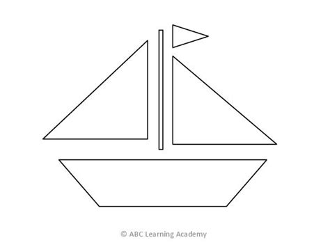 how to draw a boat using shapes 12 best images of sail boat printable shapes worksheets