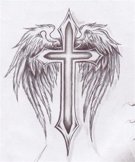 angel cross tattoo cross tattoos page 35