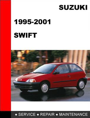 suzuki swift 1995 2001 workshop service repair manual download ma