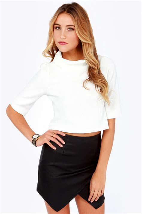 Style Vintage Tees Crop Top Original Design Zara ivory top crop top sleeve top white top 32 00