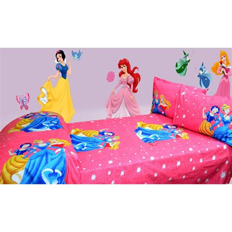 princess bed sheets disney princess print single bed sheet shopping
