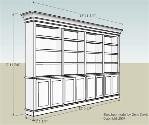 bookshelf cabinet plans diy blueprint plans plans