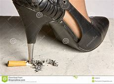 Crushing A Cigarette Stock Images - Image: 4388224 Lung Cancer From Smoking Cigarettes