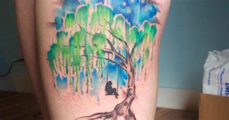 watercolor tattoos in portland my new beautifully done by lindsay