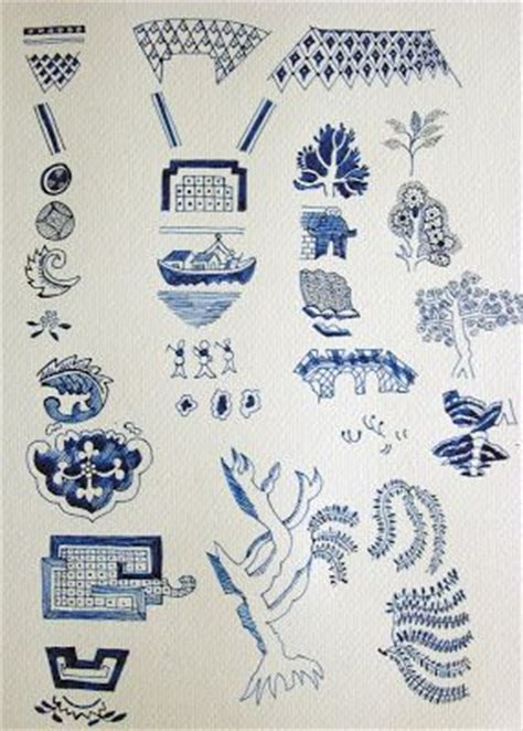 Willow Pattern Drawing | image detail for to draw each individual whole willow