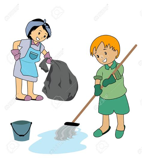 cleaning the house children cleaning the house clipart clipartxtras