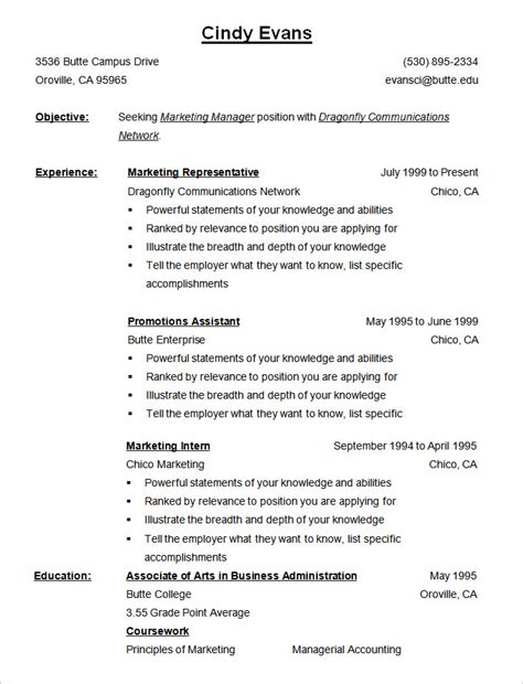 reverse chronological order resume example sample template examples