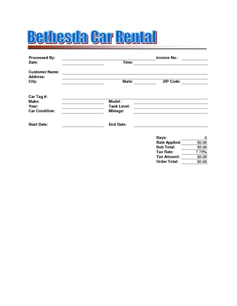 Car Rental Invoice Format Invoice Template Ideas Car Rental Receipt Template