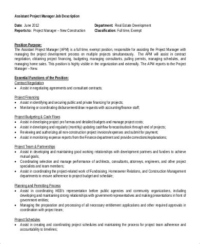 assistant project manager resume sample template administration
