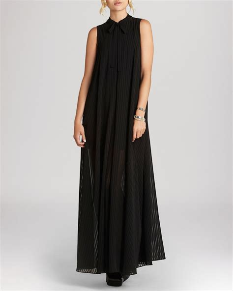 Maxi Hs bcbgeneration maxi dress high neck pleated in black lyst