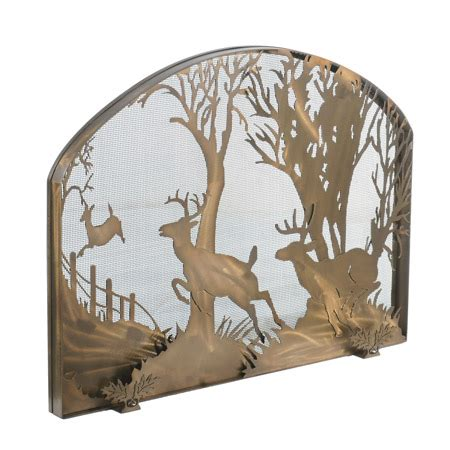 meyda 107759 deer on the arched fireplace screen