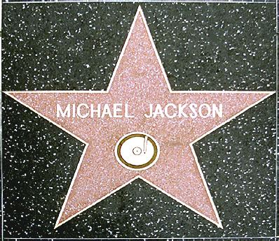 Michael Jackson's star on the Walk of Fame (photo) Hollywood Walk Of Fame Stars Michael Jackson