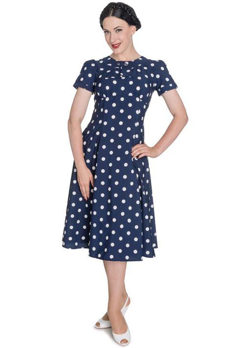 40er Jahre by Hell Bunny Madden 40er Jahre Retro Polka Dots Kleid