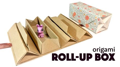 Origami Up Box - origami roll up box tutorial diy accordion box paper