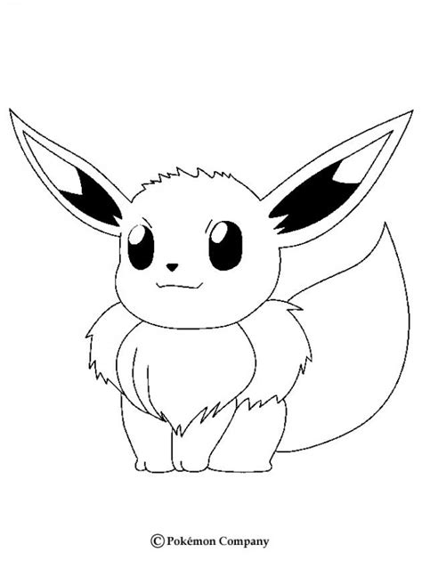 Eevee Coloring Pages Hellokids Com