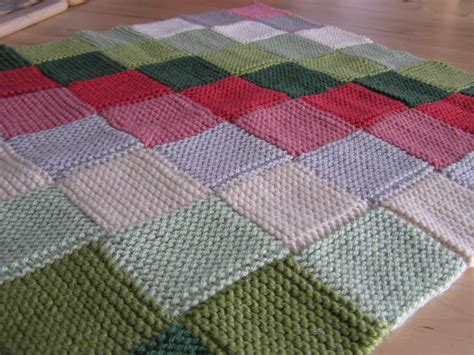 peggy squares knitting pattern garter stitch baby blanket knitting