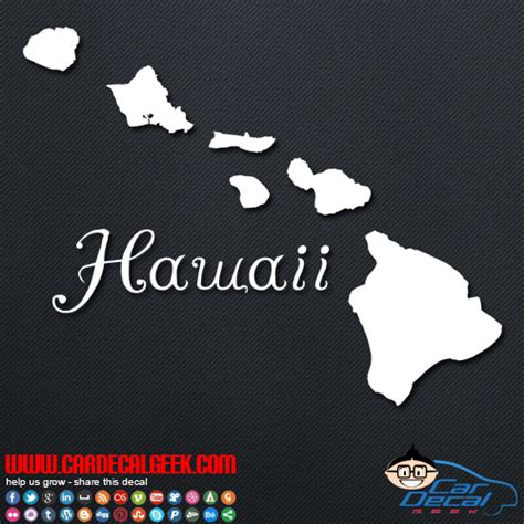 Auto Sticker Hawaii by Hawaii Islands Car Window Vinyl Decal Sticker