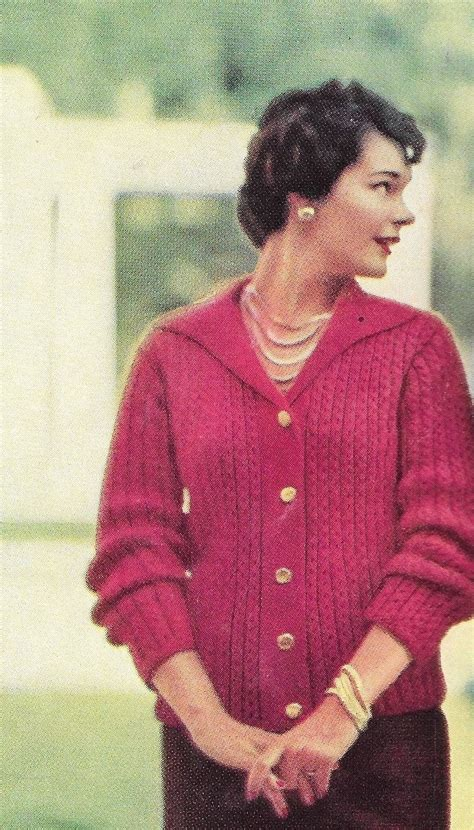 vintage knitted patterns vintage knit pattern knitted sweater pattern 50s womens