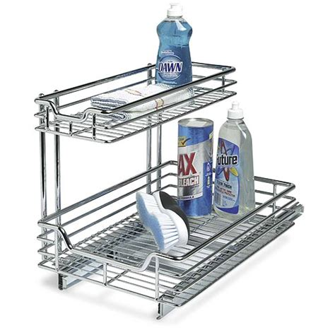 sliding cabinet organizers kitchen under sink sliding cabinet organizer in pull out baskets