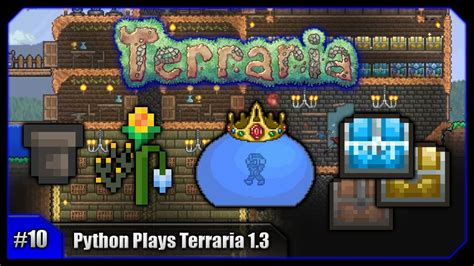terraria storage room python plays terraria king slime storage room plant room terraria 1 3 pc let s play