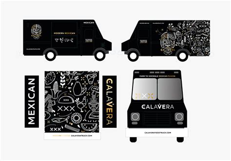 food truck brand design calavera mexican food truck design womb