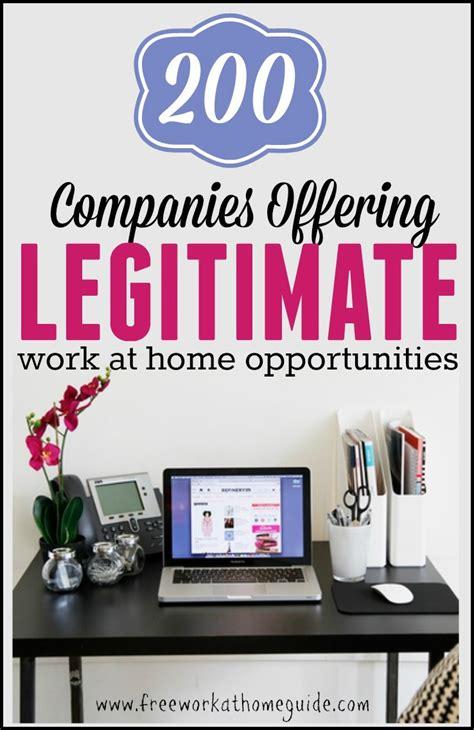 200 companies offering legitimate work at home