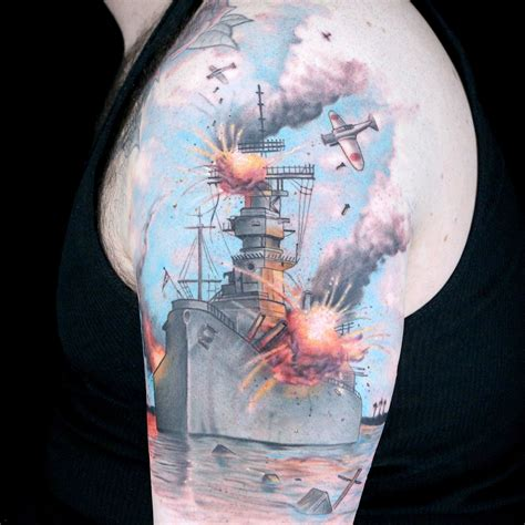 elimination tattoo color realistic battle scene ink