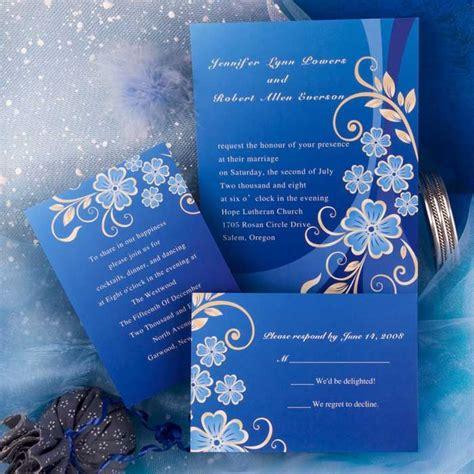 Einladung Hochzeit Blau by Royal Blue Wedding Color Scheme Search My