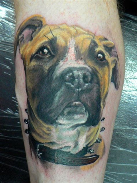 tattoos of dogs artistic of 3d