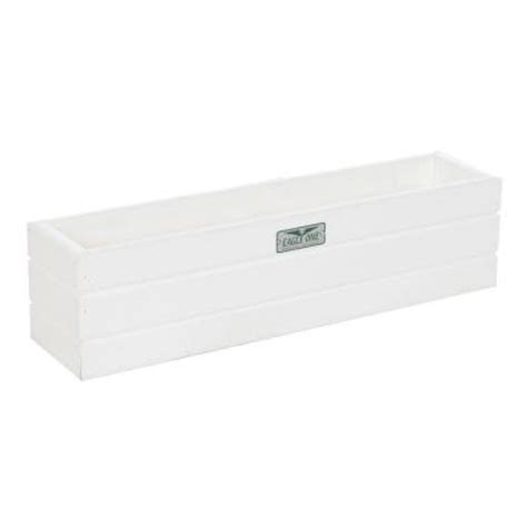 White Plastic Window Box Planters by Eagle One 21 5 In X 5 In X 5 5 In White Recycled
