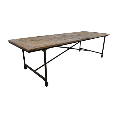 Dining Table Hardware 56 Restoration Hardware Restoration Hardware Flat Iron Rectangular Dining Table Tables