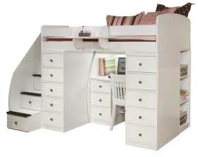 Loft bed with desk and stairs esplashes loft bed with