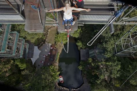 aj hackett ledge swing bungy jumping cairns australia s only bungy jump aj