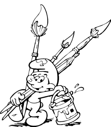 smurf coloring books for sale 4 painter smurf coloring pages gt gt disney coloring pages