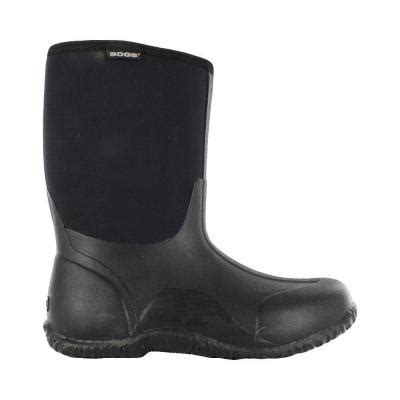 mens rubber boots size 15 bogs classic mid 11 in size 15 black rubber with