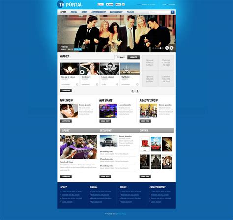 tv channel flash cms template 47130