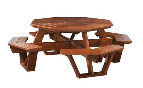octagon picnic tables cedar wood octagon picnic table from dutchcrafters