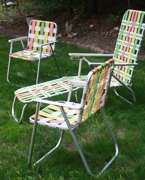 Retro Patio Chair Retro Aluminum Woven Folding Patio Outdoor Furniture Bright