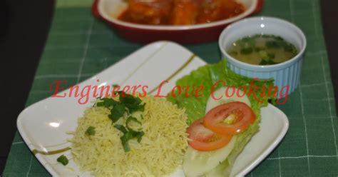 Tea Set Ayam Jago engineers cooking nasi ayam dengan ayam masak merah chicken rice with chicken in tomato soup