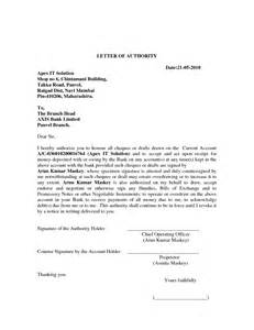 Bank Letter Of Authorization Best Photos Of Standard Letter Of Authorization Standard Letter Of Authorization For Bank