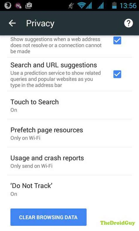 browsing android how to delete galaxy s5 browser cache