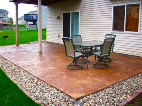 Cheap Garden Paving Concrete Patio Design Ideas Plain Concrete Backyard Patio