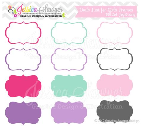 printable tag clipart instant download just for girls labels tag clipart