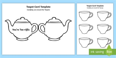s day teapot card template tea pot s day card template you re tea riffic fathers