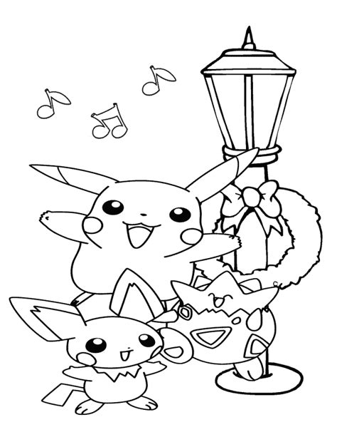 coloring pages pikachu and friends pikachu and friends singing coloring page h m coloring
